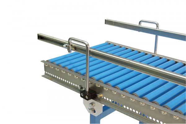 Seitenführung C-Profil für Allseitenröllchen oder Kugeltische, C-Profil ca. 28 mm breit