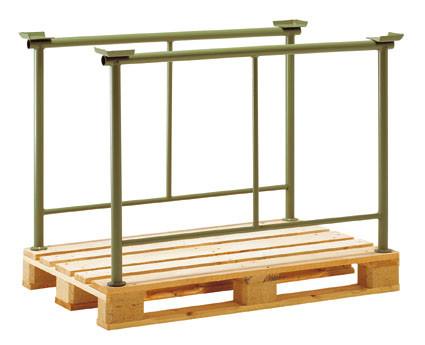 Stapelbügel mit Mittelstrebe, für Spezial Holzpaletten