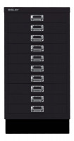 Schubladenschrank mit 10 Schubladen für DIN A3 Schwarz