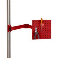 Werkzeugträgerplatten mit Doppelgelenk Schwenkausleger Rubinrot RAL 3003 / 700