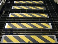 Anti-Rutsch-Trittplatten Schwarz/Gelb
