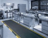 Industrie-Sicherheitsmatten, Stärke 12.5 mm, Schwarz/Gelb 1000/lfdm. / 1200