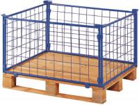 Palettenaufsatz mit Gitter - 1 Seite mit Klappe 800 / 1200 x 800