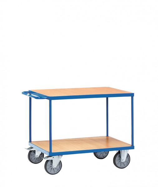 Schwere Tischwagen, 2 Ladeflächen aus Holzwerkstoff