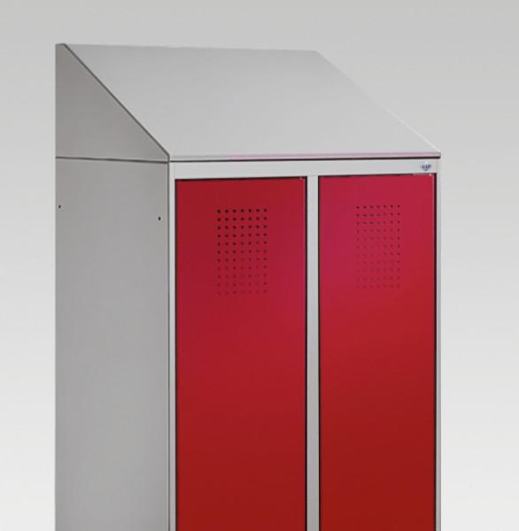 C+P Schrägdachaufsatz für Umkleidespind EVOLO mit Abteilbreite 300 mm