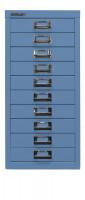 Schubladenschrank mit 10 Schubladen für DIN A4 Blau / ohne Sockel