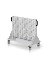 Rollwagen mit Sichtlagerkästen, Einseitig Nutzung, Höhe 890 mm zur Selbstbestückung