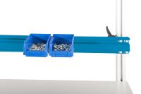 Boxenträgerschiene leitfähig 1600 / Lichtblau RAL 5012