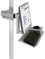 Standard-Monitorträger mit Tastaturträger und Mausfläche für MULTIPLAN / PROFIPLAN 75 / Alusilber ähnlich RAL 9006