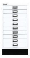 Schubladenschrank mit 10 Schubladen für DIN A3 Verkehrsweiß