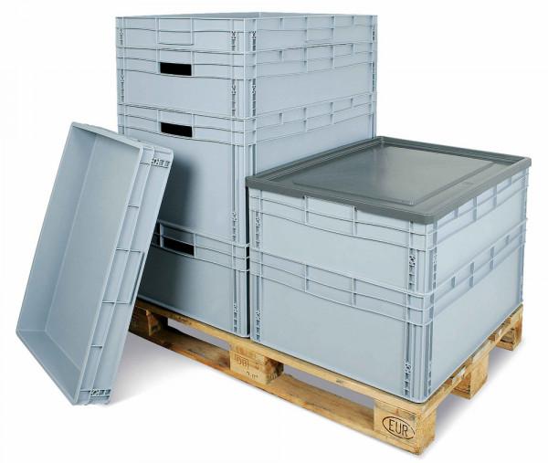 Stülpdeckel für XXL-Euronorm-Stapelbehälter, LxB 800 x 600 mm