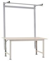 Stahl-Aufbauportale mit Ausleger für PACKPOOL Spezial/Ergo Alusilber ähnlich RAL 9006 / 2000