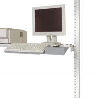 Tastaturträger mit Mausfläche, PACKPOOL Alusilber ähnlich RAL 9006
