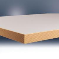 Werkbankplatte Linoleum lichtgrau 40 mm für Combi 1500