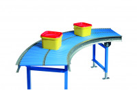 Kurven für Klein-Rollenbahnen Fördermaterial Stahl 30 x 1,5 mm 300 / 45°
