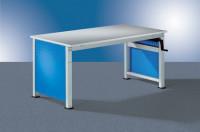 Seitenblende für Arbeitstisch UNIVERSAL Ergo, Spezial Lichtgrau RAL 7035