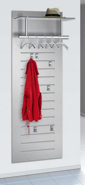 Wandgarderobe mit Hutablage, Mantelhaken und Kleiderbügeln