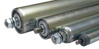 verzinkte Stahl-Tragrollen, Achsausführung: Feder 200 / 30 x 1,5