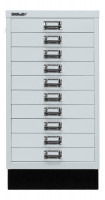 Schubladenschrank mit 10 Schubladen für DIN A3 Lichtgrau