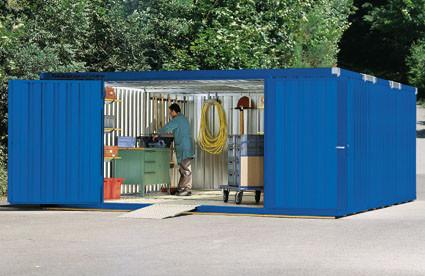 Materialcontainer-Kombination, mit Holzfußboden