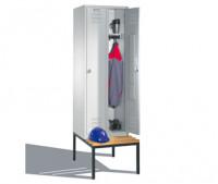 Komfort-Garderobenschrank mit Sitzbank, Breite 900 mm