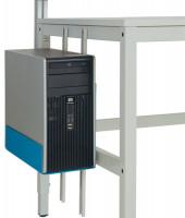 CPU-Halter für ALU-Arbeitstische Brillantblau RAL 5007
