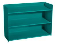 Sichtboxen-Regal Wasserblau RAL 5021