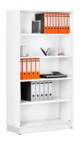 Modufix Büroregal, Grundregal mit Höhe 2575 mm 1020 / Weiß