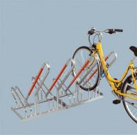 Fahrradständer - Anlehnparker verzinkt mit einseitiger Radeinstellung 90° mit Stellraumtiefe 1850 mm 1400 / 4