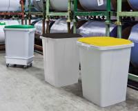 Abfall- und Wertstoffbehälter 90 Liter Gelb