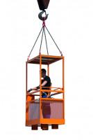 Arbeitsbühne zur Kranaufhängung Gelborange RAL 2000 / 1200 x 800