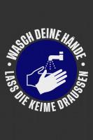 """Waschbare COVID-19 Schmutzfangmatte """"Wasch deine Hände"""", 115 x 180 cm"""