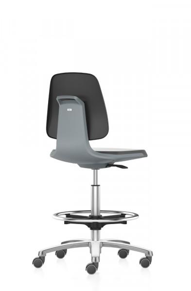Arbeitsstuhl Labsit mit Sitz-Stopp-Rollen und Fußring