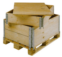 Holz-Aufsetzrahmen für Holzpaletten, klappbar 6 Scharniere 200
