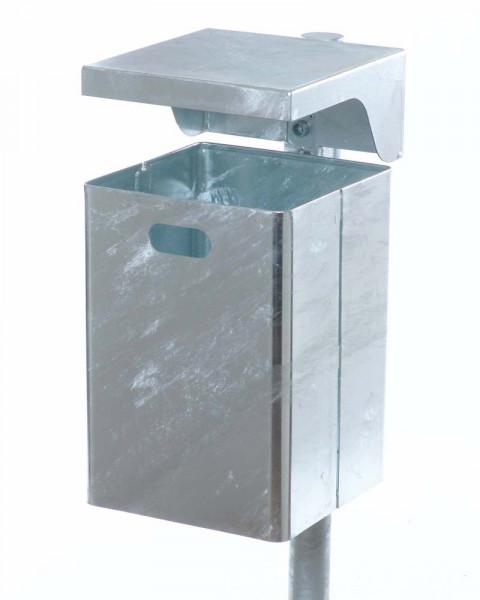 Abfallbehälter mit Ascherhaube, 40 Liter