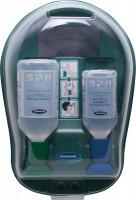 Augenspülstation 1x500 ml Natriumchloridlösung 0,9% + 1x250 ml gepuufferter Spullösung