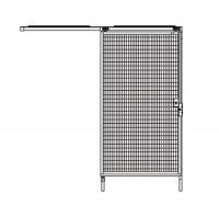 Schiebetür für Trennwand-System Maschinenschutz 2480