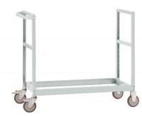 Leichter Grundrahmen für Etagenwagen Varimobil, HxB 950 x 800 mm Lichtgrau RAL 7035 / 1500 x 800