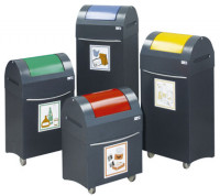 Design-Sammelbehälter 75 / Enzianblau RAL 5010