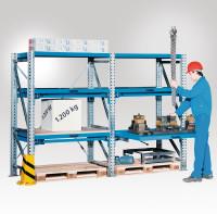 Fester Boden extra, für Schwerlastregal mit 100% Auszug, Fachlast 1200 kg 900 / 850 / 100