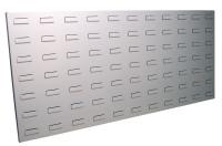 Werkzeug-Schlitzplatten zur Wandbefestigung im Hochformat Lichtgrau RAL 7035 / 1200