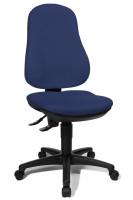 Bürodrehstuhl Basis mit Bandscheibensitz Marineblau