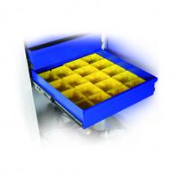 Einteilungsset mit Kunststoffkästen für Materialschrank 500