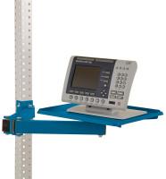 Ablageboard für MULTIPLAN Arbeitstische Brillantblau RAL 5007 / 370
