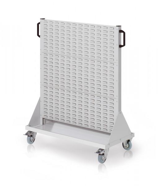 Rollwagen mit Sichtlagerkästen, Doppelseitig Nutzung, Höhe 1230 mm