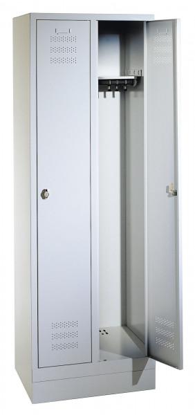 Komfort-Garderobenschrank mit Sockel, Breite 900 mm