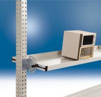 Neigbare Ablagekonsolen für Stahl-Aufbauportale 1000 / 195 / Lichtgrau RAL 7035