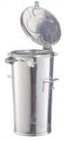 Stahlblech-Mülleimer, für staubfreie Entleerung 50