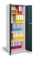 Akten-/Lagerschrank mit glatten Türen Anthrazit RAL 7016