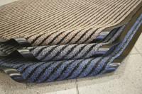 Gerillte Doppelfasermatte 1500 x 900 / Grau
